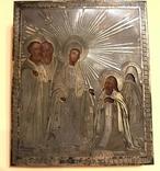 Ікона срібло 84, явлення Пресвятої Богородиці преподобному Сергію Радонезькому