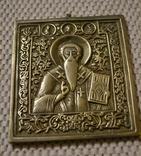 Икона святой антипий бронза