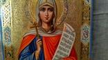 "Икона ""Святая Великомученица Параскева, нареченная Пятница"" (27 Х 22). photo 3"