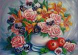 """Картина маслом """" Цветочный бум"""" М Начинайло"""