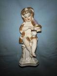 Девочка в шубке с туркой. Аллегория зимы. Германия. 1900-1930г