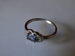 Кольцо танзанит 6 X 4 мм натуральный серебро 925 photo 6