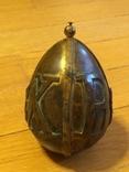 Пасхальное яйцо ХВ Христос Воскрес рамка для иконы фотографии латунь, фото №2