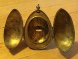 Пасхальное яйцо ХВ Христос Воскрес рамка для иконы фотографии латунь, фото №4