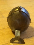 Пасхальное яйцо ХВ Христос Воскрес рамка для иконы фотографии латунь, фото №5