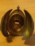 Пасхальное яйцо ХВ Христос Воскрес рамка для иконы фотографии латунь, фото №8