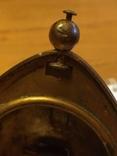 Пасхальное яйцо ХВ Христос Воскрес рамка для иконы фотографии латунь, фото №13