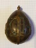Пасхальное яйцо ХВ Христос Воскрес рамка для иконы фотографии латунь, фото №18