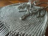 Театральная дамская сумочка кальчужка серебро 84 проба 319 грамм, фото №3