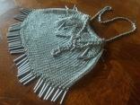 Театральная дамская сумочка кальчужка серебро 84 проба 319 грамм, фото №2