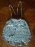 Театральная дамская сумочка кальчужка серебро 84 проба 319 грамм, фото №12