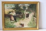 """Копия картины Н.Пимоненка """"Не жартуй"""" (1895), холст, масло."""