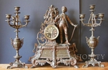 Часы каминные с кандилябрами. Франция.Вторая половина 19 век