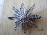 Винтажный брошь серебро филигрань photo 3