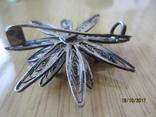 Винтажный брошь серебро филигрань photo 4