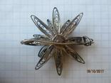 Винтажный брошь серебро филигрань photo 5