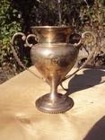 Серебряная ваза в стиле модерн, вес 349 грамм.