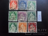 Швейцария. 1908 г. 9 марок. гаш