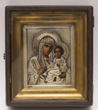 """Икона """"Тихвинская Пресвятая Богородица"""", серебро 84 пр."""