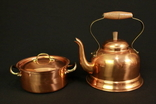 Чайник и кастрюлька. Медь. Клеймо. Copral. Португалия. (0218)