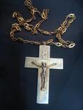 Крест распятие серебро