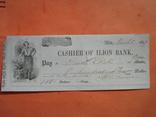 США чек 1859 год на 110,00$ кузнец photo 2