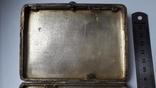 Портсигар серебро 84 проба, фото №12