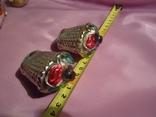 Старинные игрушки корзинки с ягодами в сохране, фото №3