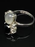 Набор из кольца, серег и кулона с камнями, фото №8