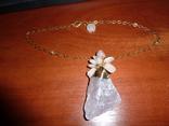 Ожерелье с *диким* розовым кварцем photo 1