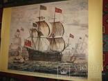 Плакат С Видом морской баталии, фото №6