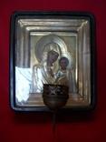 Икона Казанская Богородица и родная лампадка.