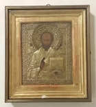 Икона Николай полнопрописной оклад серебро