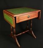 Винтажный раскладной столик с выдвижным ящиком. Шератон. Европа. (0356)
