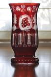 Ваза двухслойное рубиновое стекло.Эгерманн (Egermann) Богемия, Чехия.
