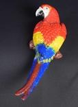 Большой цветной объемный попугай Ара 36 см