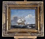 Картина Парусник Корабль Масло Рама Европа
