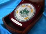 Редкая серебряная монета 1 кг.,номер 410,тираж 1000 сертификат