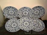 Набор тарелок клеймо Blau Saks Jager Eisenberg Германия