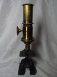 Старинный микроскоп с футляром photo 3