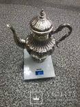 Срібний чайно-кофейний набір 4-предмети 925пр. -2945грм. photo 2