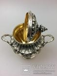 Срібний чайно-кофейний набір 4-предмети 925пр. -2945грм. photo 5