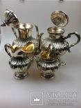 Срібний чайно-кофейний набір 4-предмети 925пр. -2945грм. photo 6