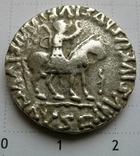 Индо-скифы, тетрадрахма Азеса ІІ, зеркальная легенда photo 1
