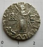 Индо-скифы, тетрадрахма Азеса ІІ, зеркальная легенда photo 2