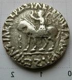 Индо-скифы, тетрадрахма Азеса ІІ, зеркальная легенда photo 3