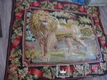Ковер Старинный Домотканный Двусторонний Лев птичка 173х148см