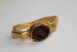 Римский золотой перстень,гемма photo 1
