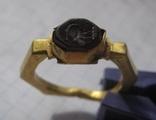 Римский золотой перстень,гемма photo 2