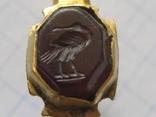 Римский золотой перстень,гемма photo 8